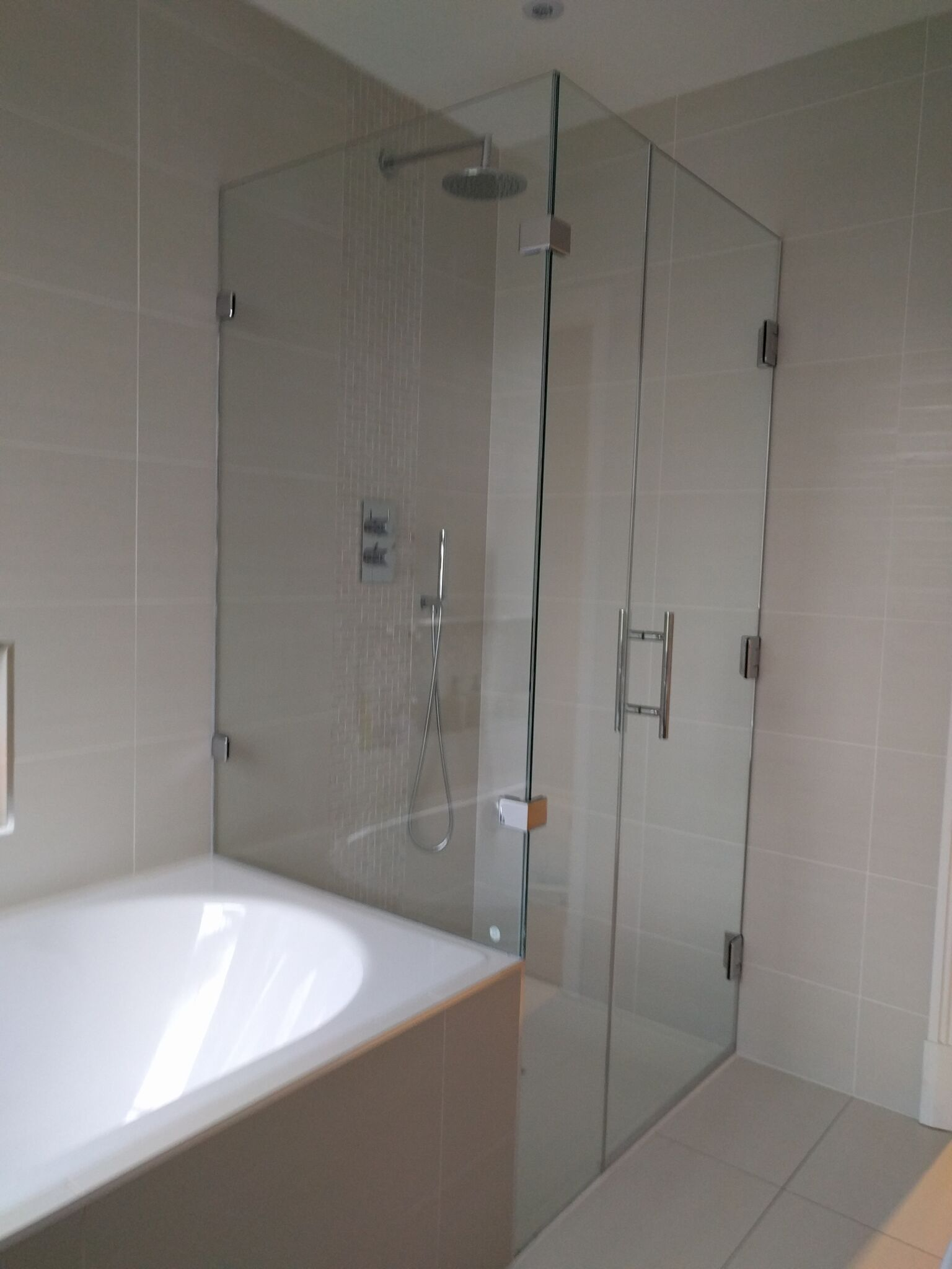 Shower Doors - Cameo Glass