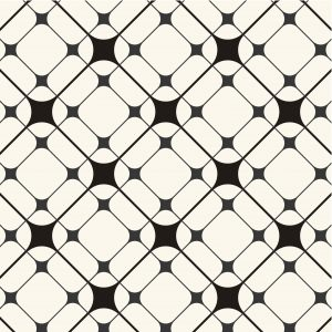 black and white diamond abstract pattern for use with kitchen, bathroom, and glass splashbacks