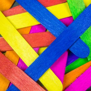 Background style picture of various color of wooden stick