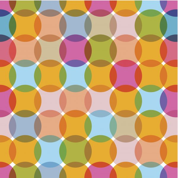 retro circle fading pattern for use with kitchen, bathroom, and glass splashbacks