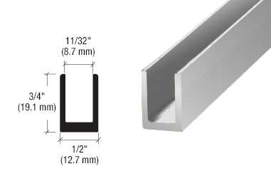 Dimensions for depth of glass balustrades
